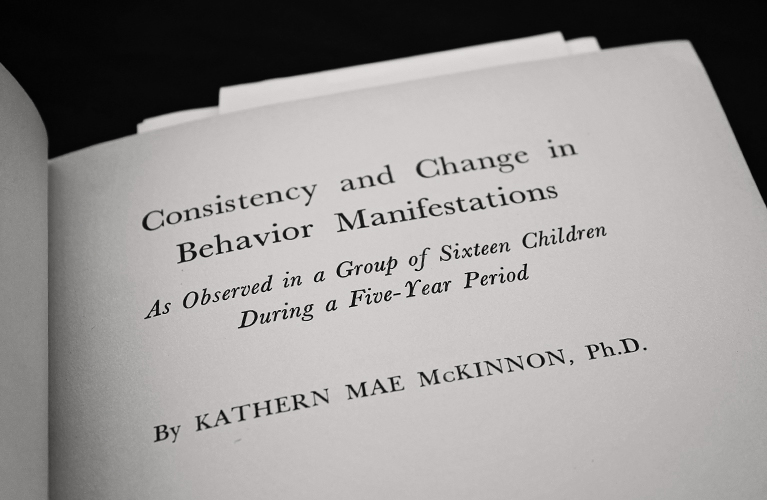 Consistency and Change in Behavior Manifestations: As Observed in a Group of Sixteen Children During a Five Year Period - Kathern McKinnon | Alex Inspired