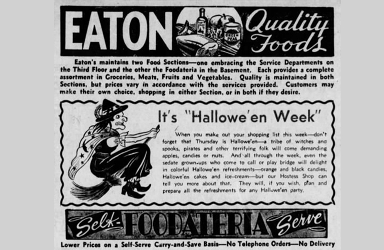 Eaton's Vintage Halloween Costume Ads | Alex Inspired