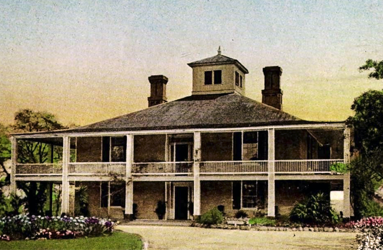 Original Postcard of Fruitland Home, prior to becoming the Augusta Clubhouse
