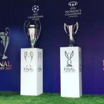 Champions League trophies