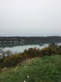 Menai Strait and pier (view from Roman camp)