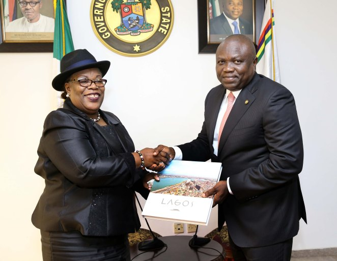 59c0b04e63103 - Photos: Gov. Ambode receives outgoing Chief Judge of Lagos state, Justice Olufunmilayo Atilade at Lagos House, Ikeja
