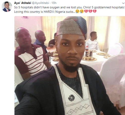 Popular dancer IjoChris dies after five hospitals he was rushed him to had no oxygen to revive him