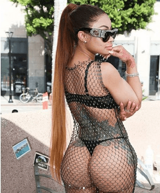 Blac Chyna flaunts her bare butt as she joins Amber Rose