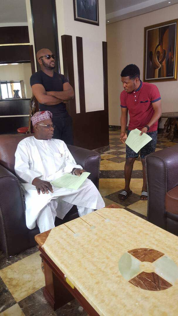 Former President Olusegun Obasanjo makes acting debut in Samuel Ajibola