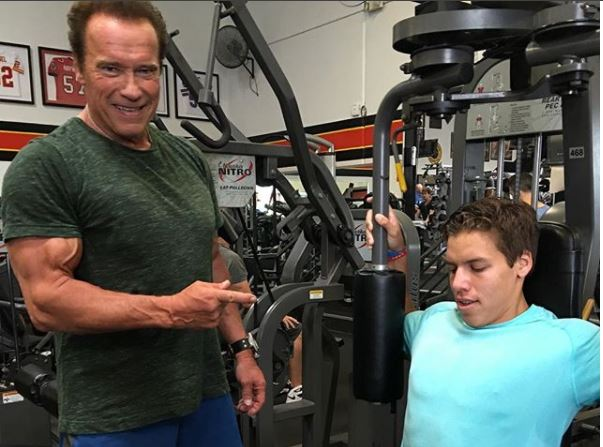 Arnold Schwarzenegger shares Father-Son Gym session photo to celebrate his love child
