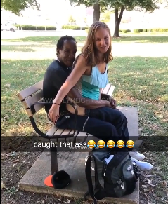 Appalling video of couple caught having sex at a park in Illinois