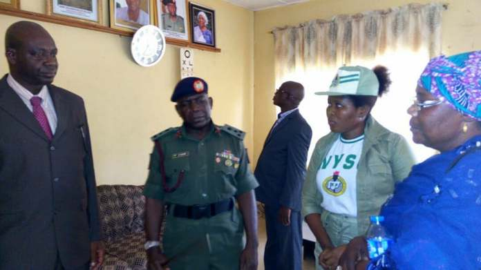 Photos: Female NYSC member rejects redeployment after regaining freedom from kidnappers