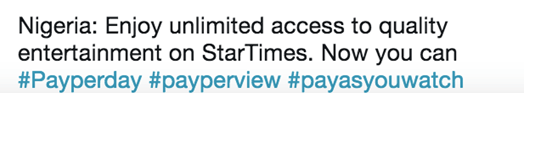 Believe it! StarTimes just announced Daily Subscription in Nigeria