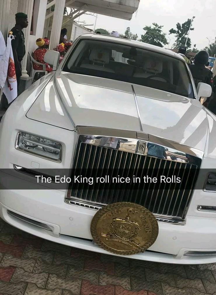 Image result for Oba Ewuare II Ogidigan rolls royce