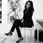 Agbani Darego Sizzle In Black And White Photo