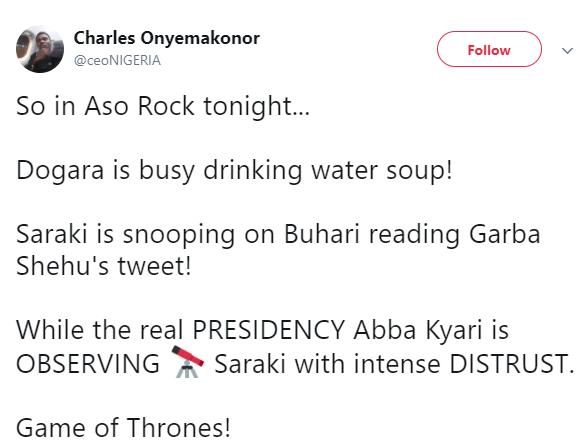 Twitter user describes?President Buhari