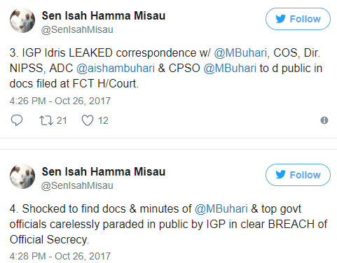 Senator Misau denies accusing Aisha Buhari of receiving 2 SUVs from IG of Police