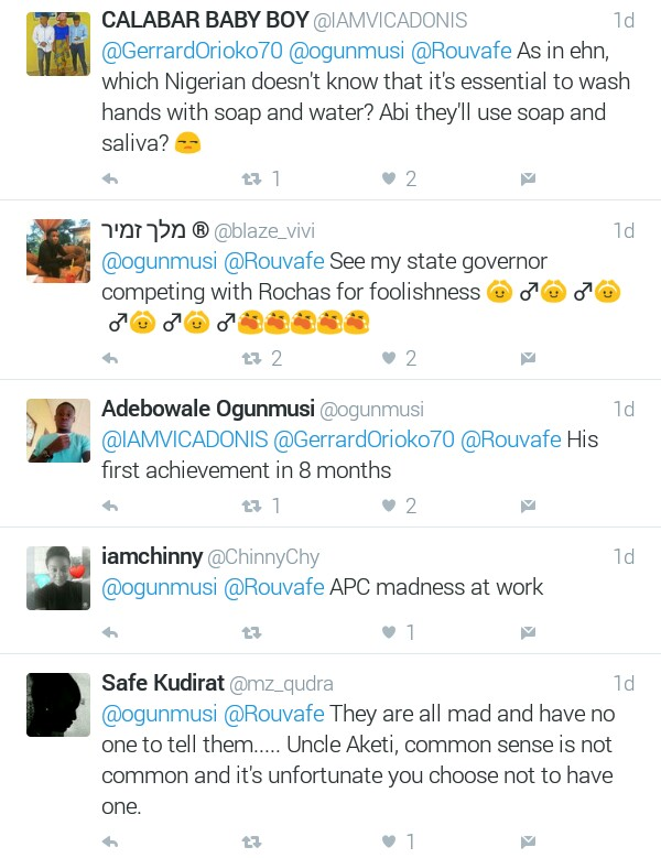 Twitter users reacts to photos of Ondo State Governor, Akeredolu commissioning a billboard