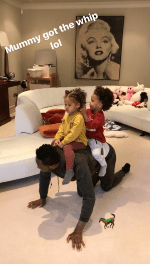 Mikel Obi spends quality time with his twin girls