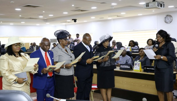 Photos: Gov. Ambode presides over the swearing-in of newly appointed permanent secretaries at Lagos House, Ikeja