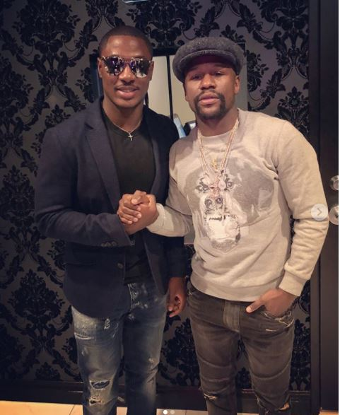 Photos: Super Eagles striker, Odion Ighalo meets Floyd Mayweather in Las Vegas