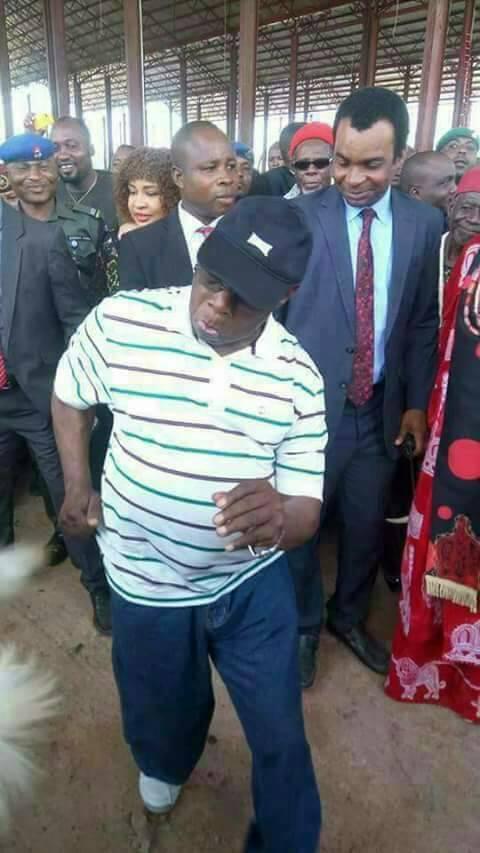 Photos of ex-president Olusegun Obasanjo showing off his dancing skills