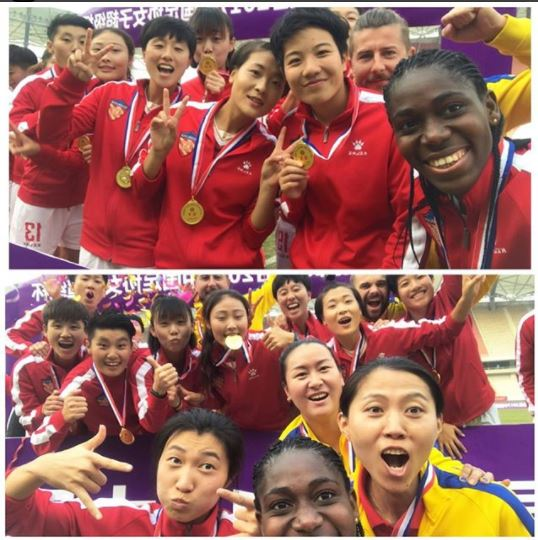 Super Falcons star Asisat Oshoala crowned Chinese women?s League