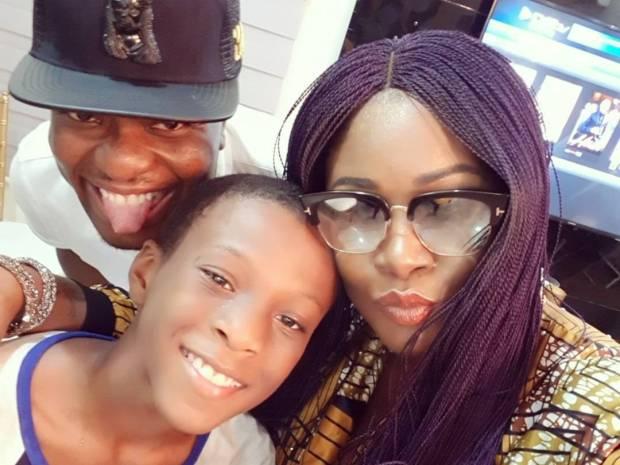BankyW all smiles at the 1st birthday party of Ebuka Obi-Uchendu