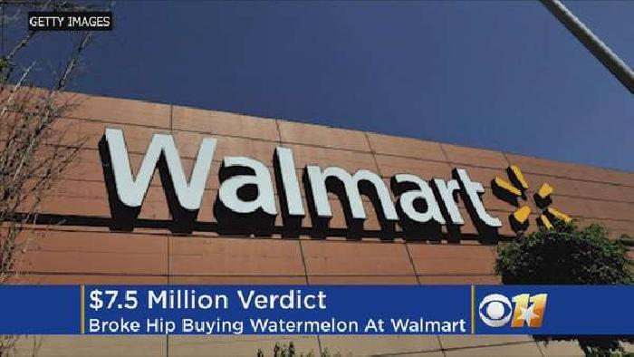 Man hurt while buying watermelon at Walmart wins $7.5m settlement