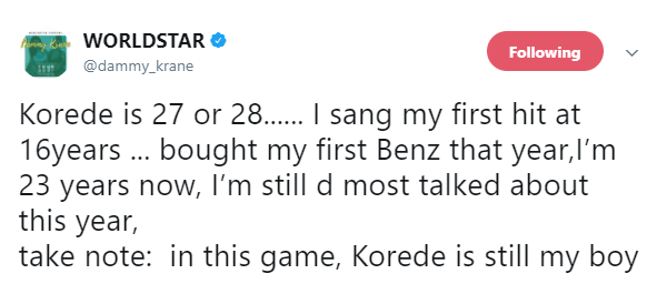 Dear Dammy Krane, what is your real age? The Internet is confused!
