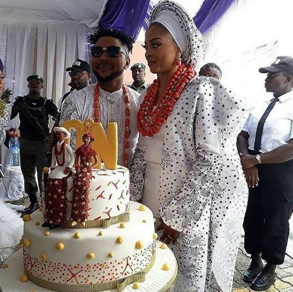 #ON2017: The Wedding Cake & More Photos From Oritsefemi & Nabila Wedding | Photo