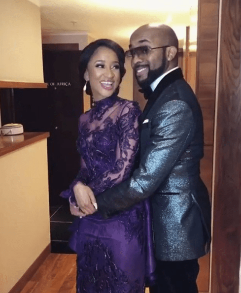 Banky W and Adesua white wedding hold yesterday for Cape Town, South Africa.
