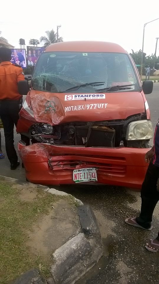 Photos: Police officers who were allegedly driving under the influence of alcohol cause ghastly accident in Akwa Ibom