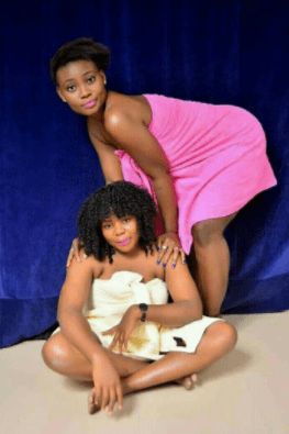 Whose sisters are these biko? Ladies pose in towels for photoshoot