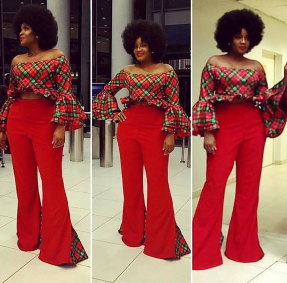 Photos: Omotola Jalade and hubby step out for Christmas party in matching