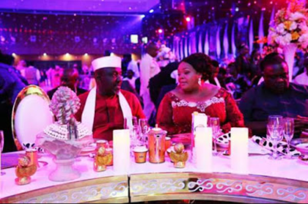 Governor Rochas Okorocha and his wife dance at her glamorous 50th birthday party