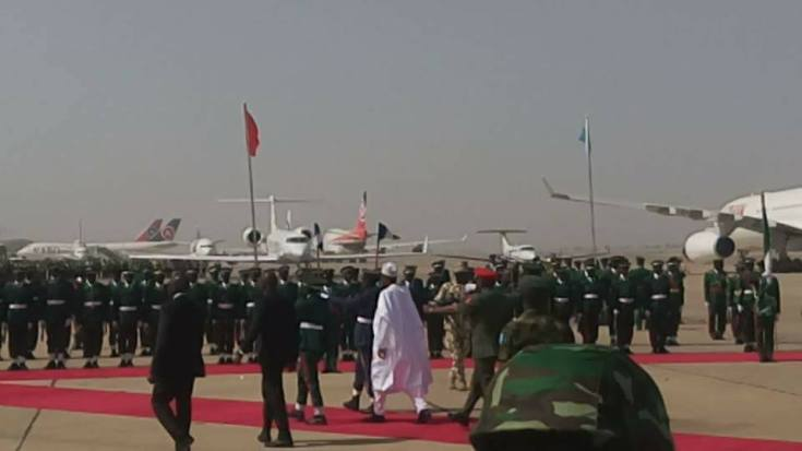 Photos: President Buhari arrives Kano for a 2-day working visit