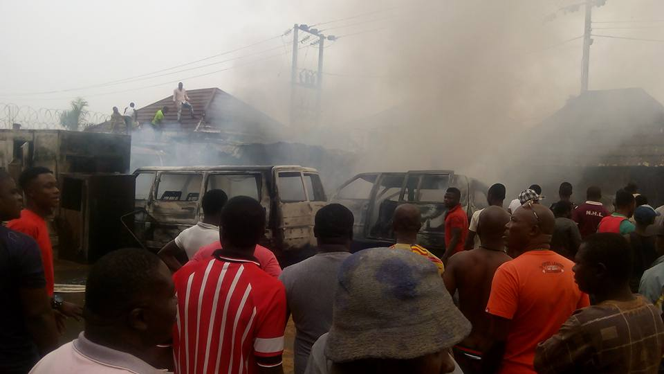 Photos: Newton hotel in Imo gutted by fire