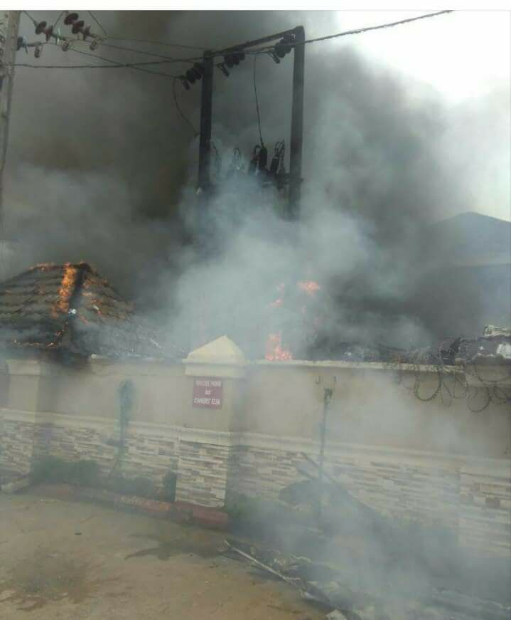 Photos: Newton hotel in Imo razed by fire