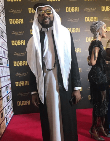 BankyW & Adesua Etomi step out in style for the Arabian themed premiere of