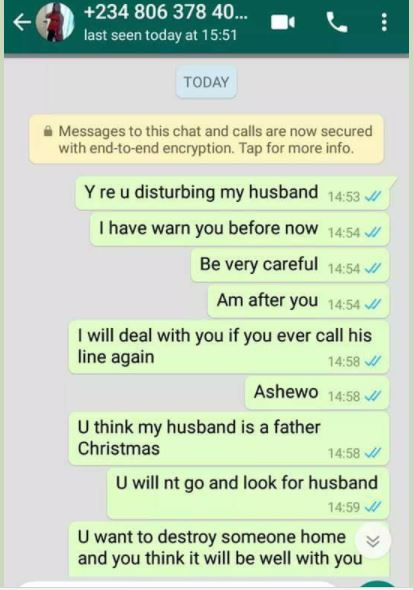 Nigerian woman confronts husband