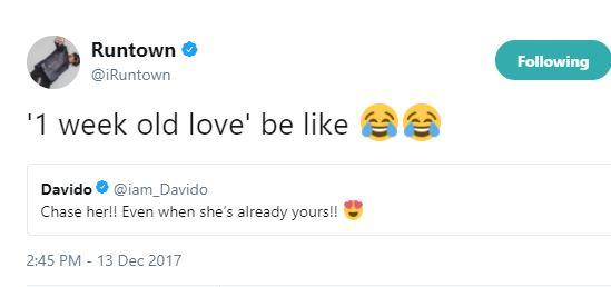 Between Davido, Runtown and his new