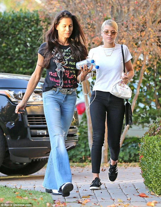 A step ahead! Sofia Richie visits boyfriend Scott Disick home with her mother in tow (Photos)