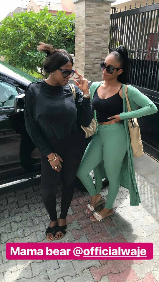 Singer Waje and her daughter, Emerald, serving major mother/daughter goals in new photo