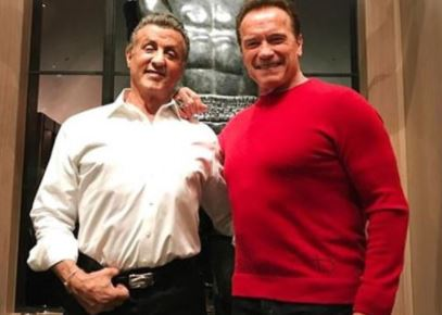 Legendary actors! Sylvester Stallone and Arnold Schwarzenegger pictured togethe