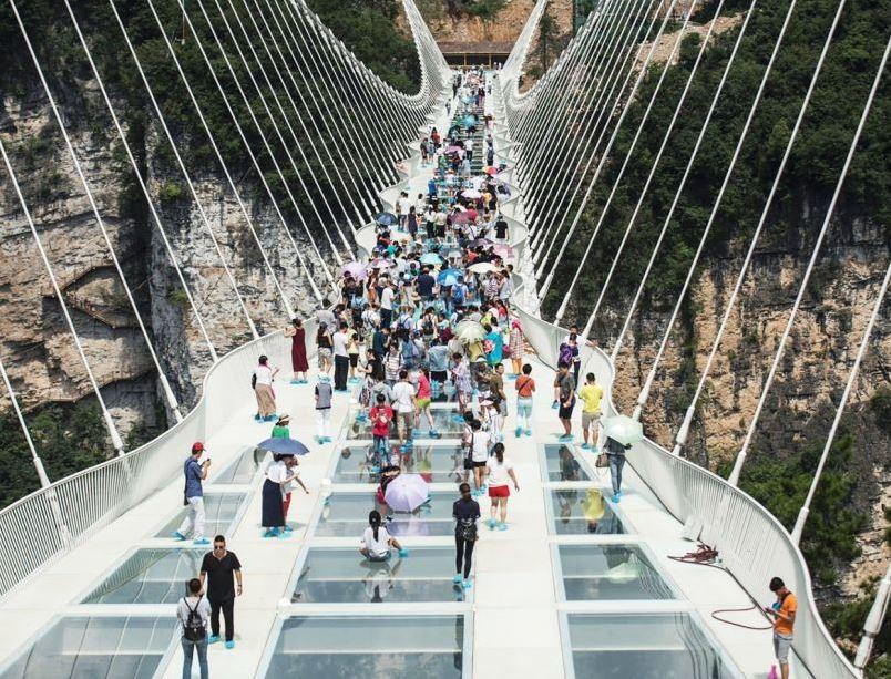 China opens World's longest glass bridge