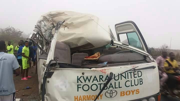 Kwara United football club players involved in a ghastly accident (photos)
