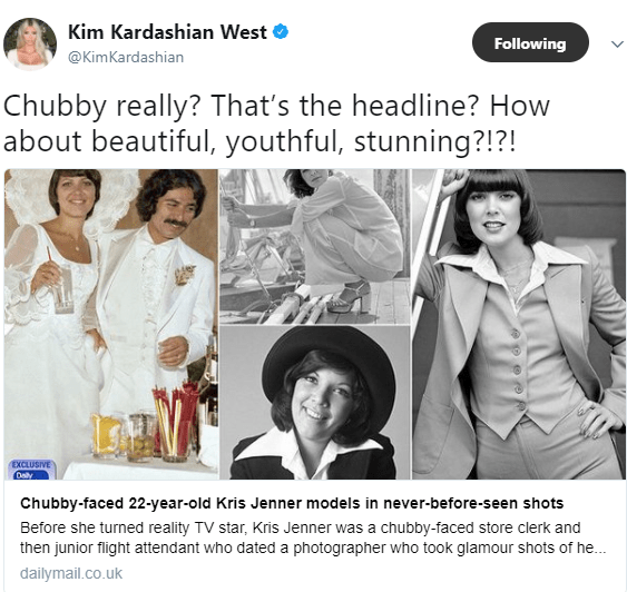 Kim Kardashian calls out Daily Mail for referring to her mom, Kris Jenner as