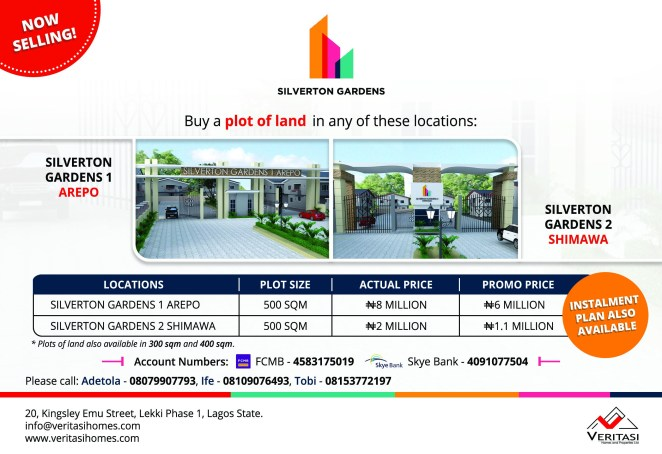 5a587d5dd6b9a - Veritasi Homes announces launch of new estate projects, Silverton Gardens 1 & 2
