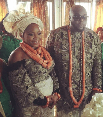 5a5a3975423a6 - #TOY18: Check out Omawumi and her husband, Tosin Yusuf's first and second look at their wedding