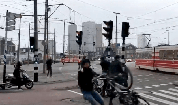 Wow! Video shows people getting blown away by strong winds in the Netherlands