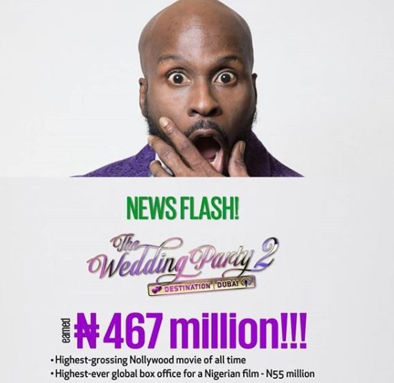 The Wedding Party 2 becomes the highest grossing Nollywood movie of all time with #467m in 5 weeks - Mo Abudu