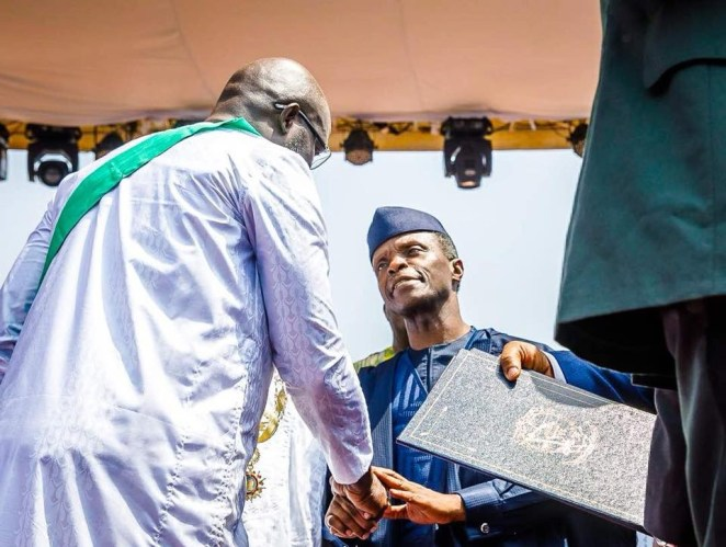 5a6655d859642 - Photos of Vice President Yemi Osinbajo at the inauguration of Liberia's 24th president, George Weah