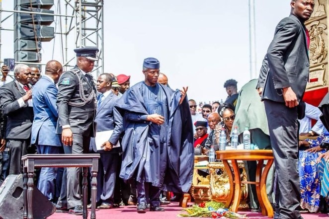 5a6655f66cda0 - Photos of Vice President Yemi Osinbajo at the inauguration of Liberia's 24th president, George Weah